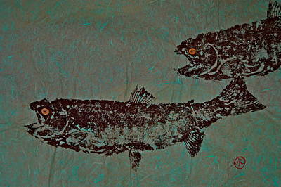 Mixed Media - Steelhead Salmon Run  by Jeffrey Canha