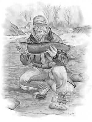 Steelhead Success On The River Art Print by Russ  Smith
