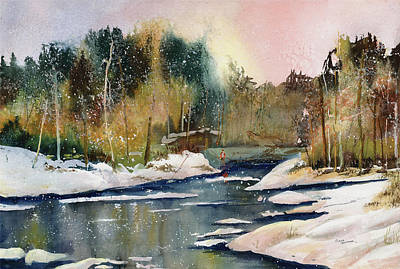Painting - Steelhead Waters by Elaine Hoffman
