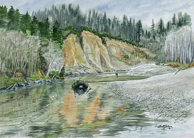 Steelheading On The Queets River Original