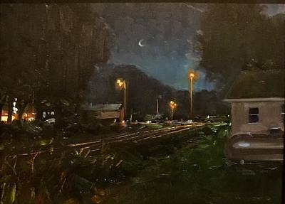 Painting - Steelville By Night by Marty Coulter