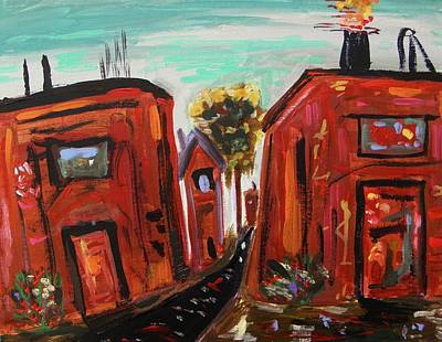 Self View Painting - Steelworks By Mcw by Mary Carol Williams
