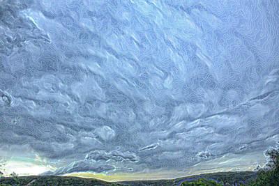 Steely Blue Sky Art Print