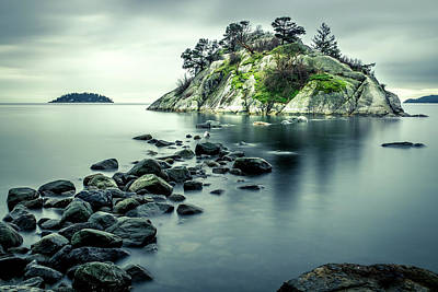 Photograph - Steely Day At Whytecliff by Brad Koop