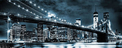 Brooklyn Bridge Photograph - Steely Skyline by Az Jackson