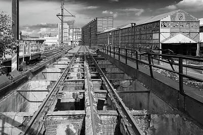 Photograph - Steelyard Tracks 1 by Lindy Grasser