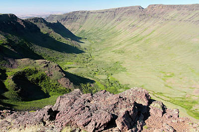 Photograph - Steens Mountain Overlook At Kiger Gorge, Oregon by Robert Mutch