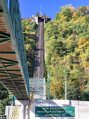 Photograph - Steep Johnstown Incline by John Waclo