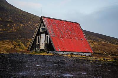 Photograph - Steep Roof Barn Western Iceland by Deborah Smolinske