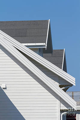 Photograph - Steep Roof Detail by Heiko Koehrer-Wagner