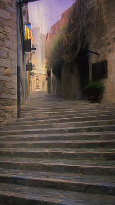 Girona Photograph - Steep Steps Of Girona by Joan Carroll