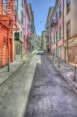 Sunny Photograph - Steep Street by Scott Norris