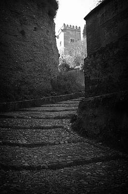 Steep Walk To The Tower Art Print by Jez C Self