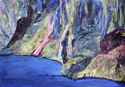 Painting - Steeped In Story / Slieve League Cliffs / Donegal Days by Dawn Richerson