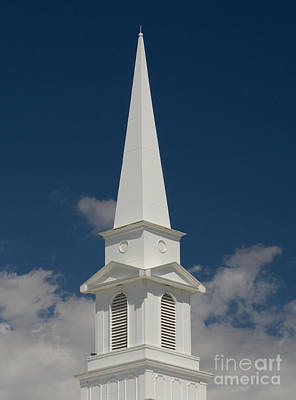 Steeple And Clouds Art Print by Merrimon Crawford