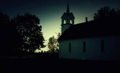 Photograph - Steeple At Dusk by Scott Hovind