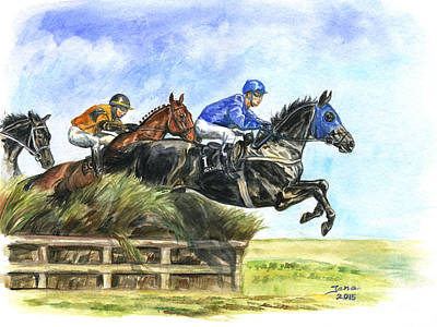 Painting - Steeple Chase by Jana Goode