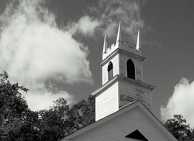 Steeple In The Clouds Art Print by Lois Lepisto