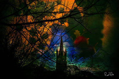 Digital Art - Steeple In The Woods by Richard Ricci
