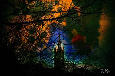 Digital Art - Steeple In The Woods by Richard Ricci