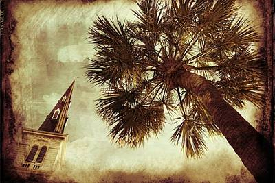 Photograph - Steeple Sepia by Alice Gipson