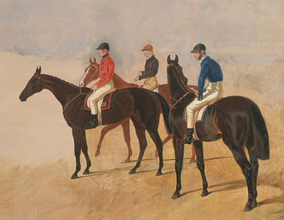 Painting - Steeplechase Cracks - Allen Mcdonough On Brunette, Tom Oliver On Discount, And Jem Mason On Lottery by Treasury Classics Art