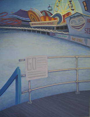 Steeplechase Pier Original by Suzn Smith