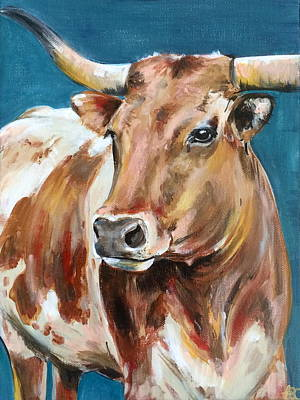 Steer Painting - Steer by Alana Clumeck
