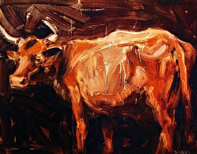 Steer Painting - Steer by Brian Simons