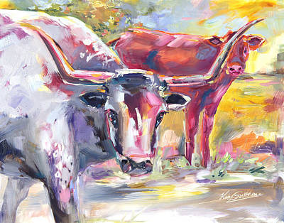 Western Purses Painting - Steer Clear by Kim Guthrie