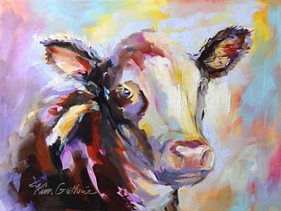 Steer Painting - Steer Me In The Right Direction by Kim Guthrie