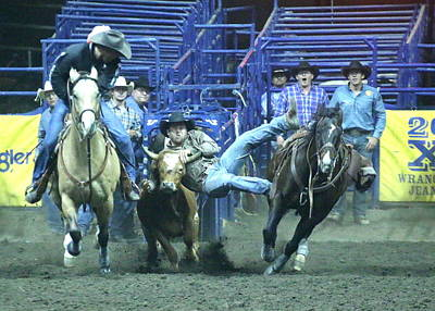 Photograph - Steer Roping At The Grand National Rodeo by John King