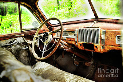 Photograph - Steering Wheel  by Alana Ranney