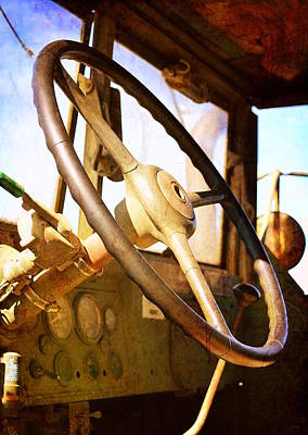 Photograph - Steering Wheel - Army Transport by Glenn McCarthy Art and Photography