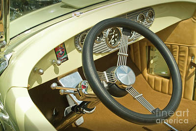Photograph - Steering Wheel Kit Car Interior by David Zanzinger