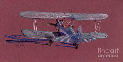 Steerman Biplane Original by Donald Maier