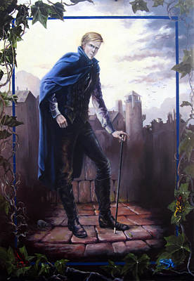 Painting - Gormenghast - Steerpike by Carol Phenix