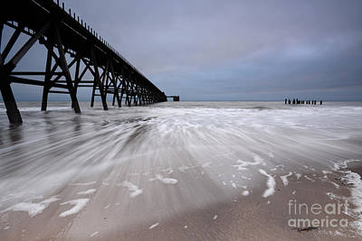 North Sea Photograph - Steetley Pier by Nichola Denny