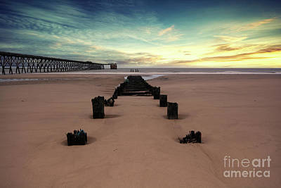 North Sea Photograph - Steetly Pier by Nichola Denny