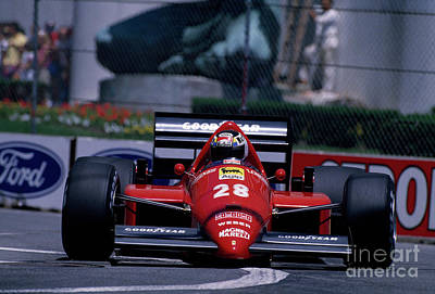Photograph - Stefan Johansson. 1986 Detroit Grand Prix by Oleg Konin
