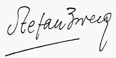Autographed Photograph - Stefan Zweig (1881-1942) by Granger