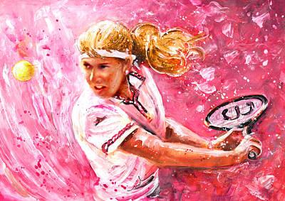 Sports Paintings - Steffi Graf by Miki De Goodaboom