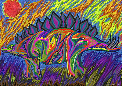 Stegasaurus Colorado Art Print by Robert SORENSEN