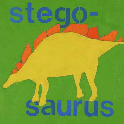 Room Painting - Stegosaurus by Laurie Breen