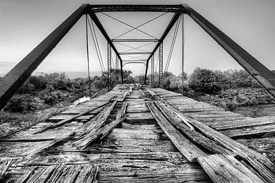 Photograph - Steinman Bridge Black And White by JC Findley