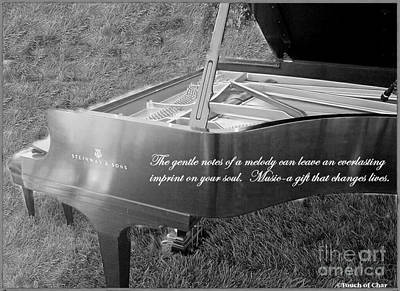 Piano Photograph - Steinway  Grand Piano  The Notes Of A Gentle Melody... by Charlene Cox