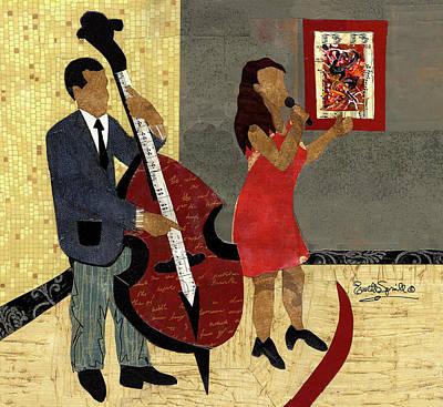 Wynton Marsalis Mixed Media - Steinway Jazz Duo by Everett Spruill