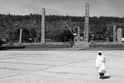 Photograph - Stelae Park, Axum, Ethiopia by Aidan Moran