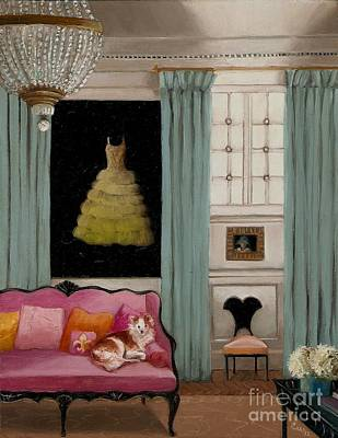 Dressing Room Painting - Stella In Paris 6e by Cara alex White