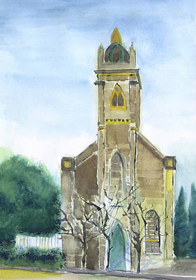 Painting - Stella Maris Church by Frank Bright